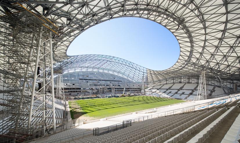 Les nouvelles tribunes du Stade Vélodrome