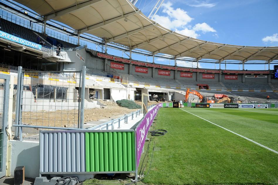 Rénoivation des tribunes du Stadium