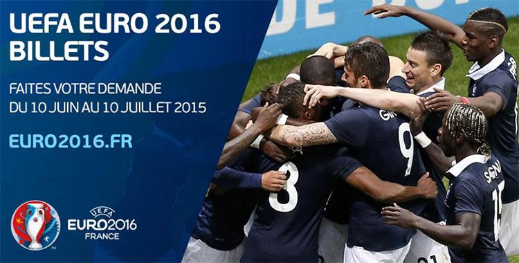 Réservez vos billets pour l'Euro 2016