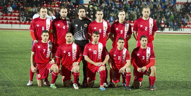 Les joueurs de foot de Gibraltar