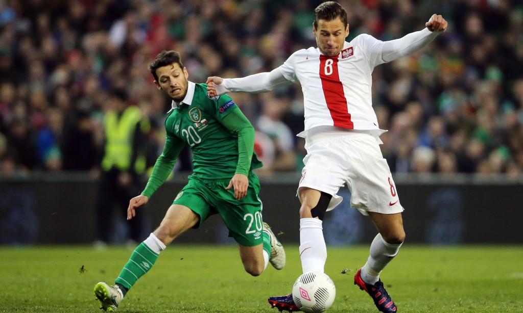 Match à enjeu entre la Pologne et l'Irlande