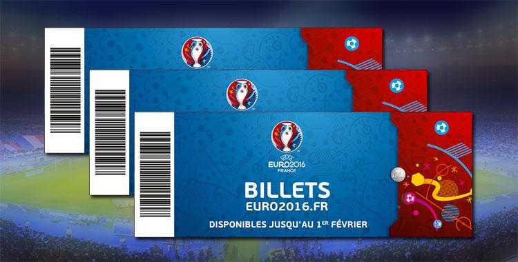 Tickets pour l'Euro 2016 de foot