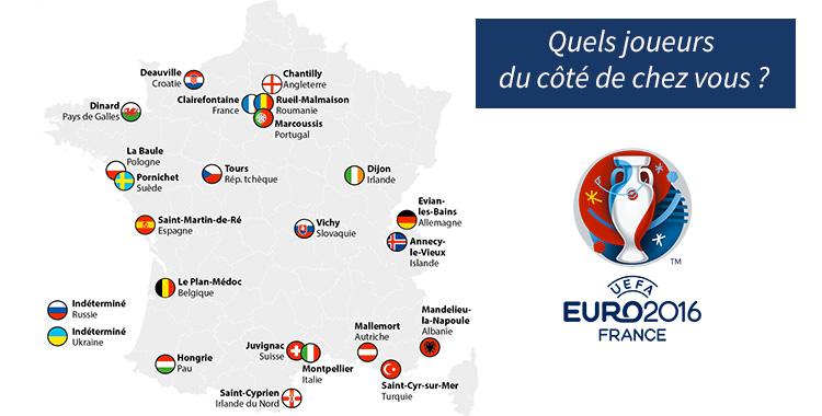 Où vont loger les équipes de l'Euro