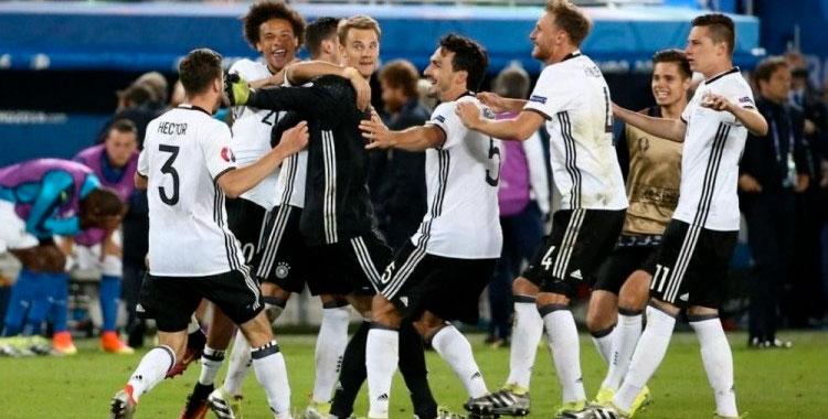 Victoire des Allemands
