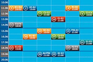 calendrier des rencontres football